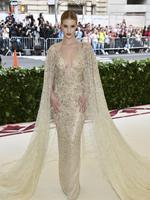 Rosie Huntington-Whiteley attends the Heavenly Bodies: Fashion and The Catholic Imagination Costume Institute Gala at The Metropolitan Museum of Art on May 7, 2018 in New York City. Picture: AP