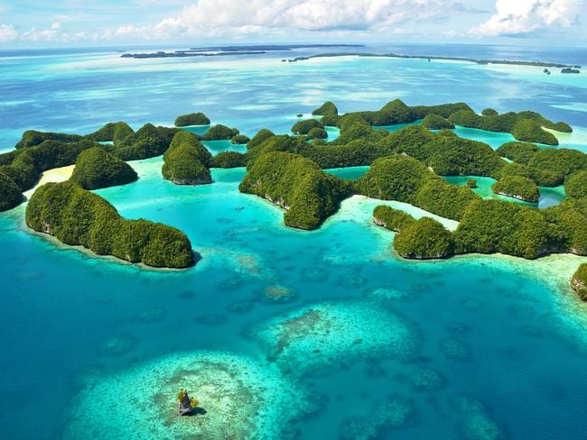 Palau's famous Rock Islands is the Micronesian country's major attraction.