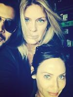 Natalie Imbruglia hangs out with Rachel Hunter at the Arcade Fire concert in Hyde Park, London. Picture: Instagram