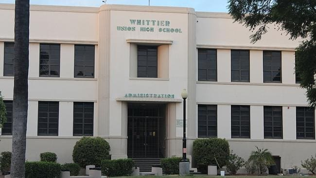 THE REAL DEAL: The exterior of Whittier High School, CA. Picture: Imgur / Mobius01