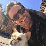 "Hugh Jackman with his pet pooch ... ""Dali's back ... by popular demand!"" Picture: @thehughjackman/Instagram"