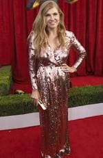 Connie Britton arrives at the 24th annual Screen Actors Guild Awards at the Shrine Auditorium Expo Hall on Sunday, Jan. 21, 2018, in Los Angeles. Picture: Matt Sayles/Invision/AP