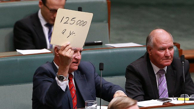 Bob Katter during Question Time in the House of Representatives. Picture: Ramage Gary