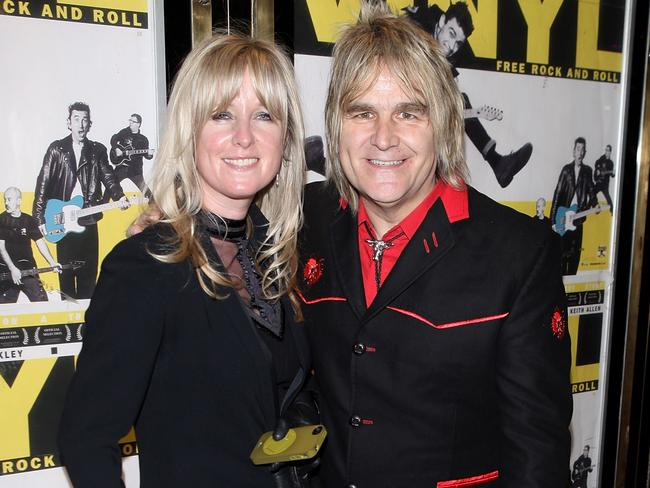Mike Peters and wife Jules. Picture: WireImage
