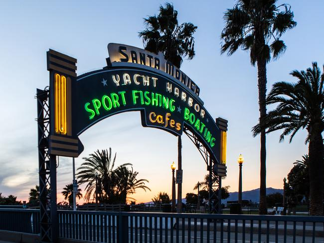 Entry to Santa Monica Pier, Santa Monica.