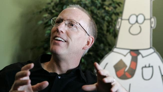 Dilbert creator Scott Adams has slammed the media. Picture: Marcio Jose Sanchez