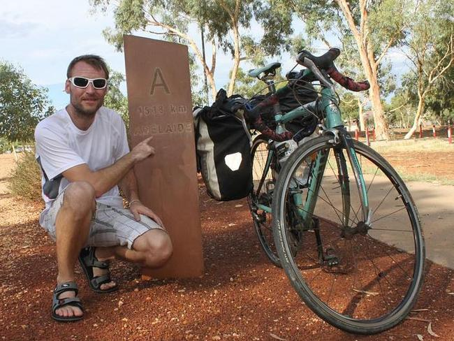 The 31-year-old rode 5000km around Australia.