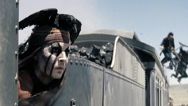 Johnny Depp as Tonto in The Lone Ranger. AP Photo/Disney Enterprises