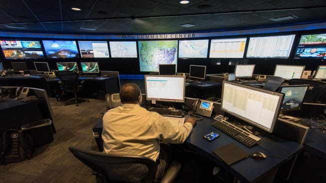 OnStar command centre in Detroit for Chevrolet. Holden's Melbourne post will cover the nation. Picture: Supplied.