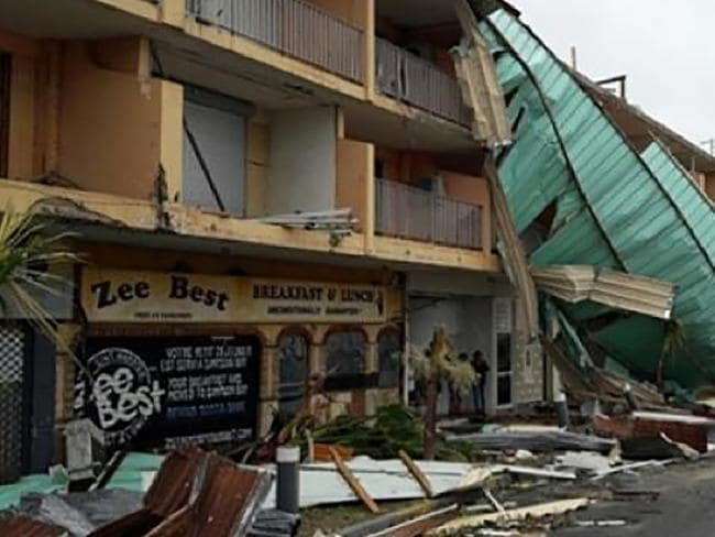 Damage on the French Island of St Martin. Picture: Rinsey Xieng