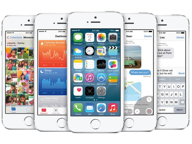iOS8 ... New look, new features.