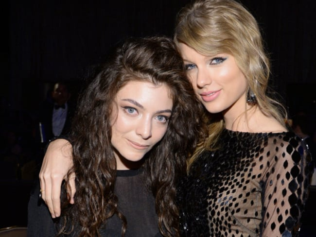 BFFs ... Lorde and Taylor Swift.