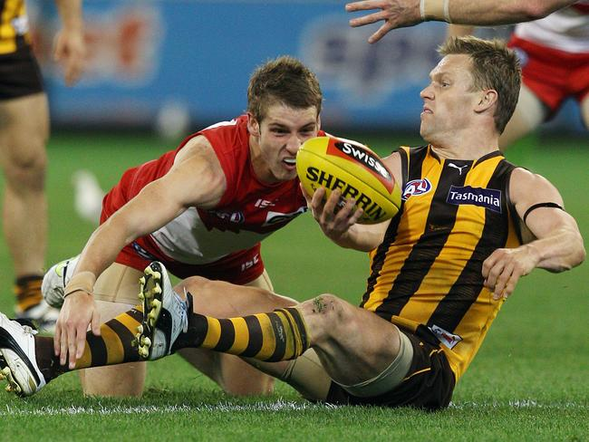 On the ground or on his feet, Sam Mitchell is Hawthorn's chief extractor.