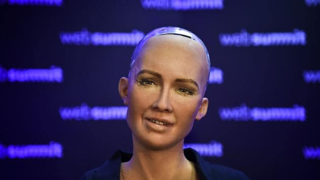 Humanoids are even holding press conferences too. Source: AFP.