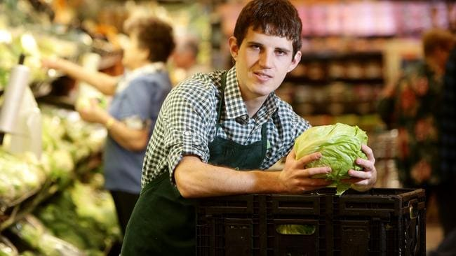 Brodie Clarke was out of work for a year but now has a job at Woolworths. Picture: Calum Robertson.