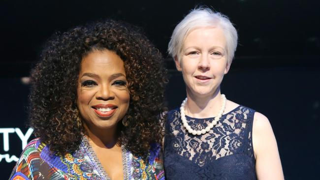 Herald Sun subscriber Kylie McClelkand, 41, won the chance to meet Oprah