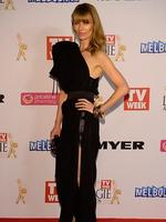 Kat Stewart during the Red Carpet Arrivals ahead of the 56th TV Week Logie Awards 2014 held at Crown Casino on Sunday, April 27, 2014 in Melbourne, Australia. Picture: Jason Edwards