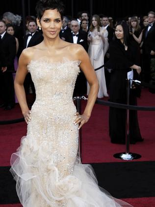 Halle Berry wears a Marchesa gown at the 83rd Academy Awards in Los Angeles in 2011. Picture: AP
