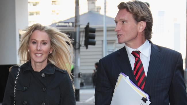 James and Tania Hird arrive at the Federal Court.