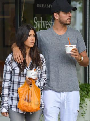 Kourt and Scott in New York last year. Picture: GC Images