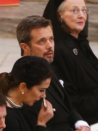 Princess Mary, Prince Frederik and Queen Margrethe. Picture: Splash