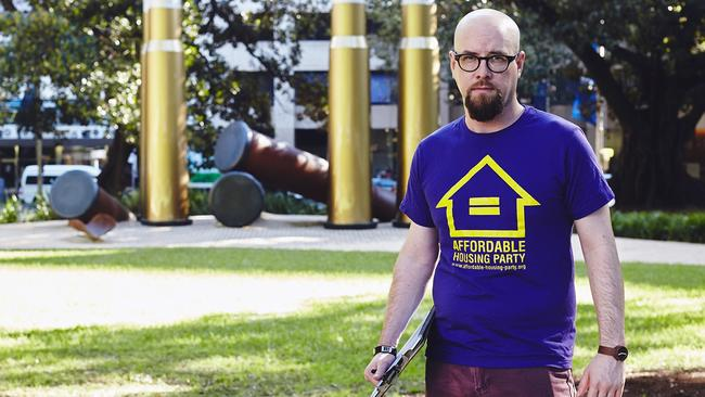 Affordable Housing Party National Convener Andrew Potts said it's ludicrous to suggest people would confuse his political party for a mortgage provider.