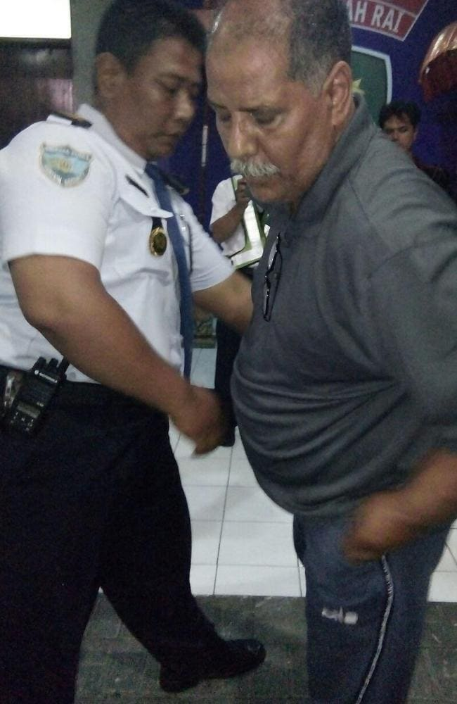 Bali police are questioning Aljohani Dakheel Allahawdahm over an alleged bomb threat. Picture: Supplied