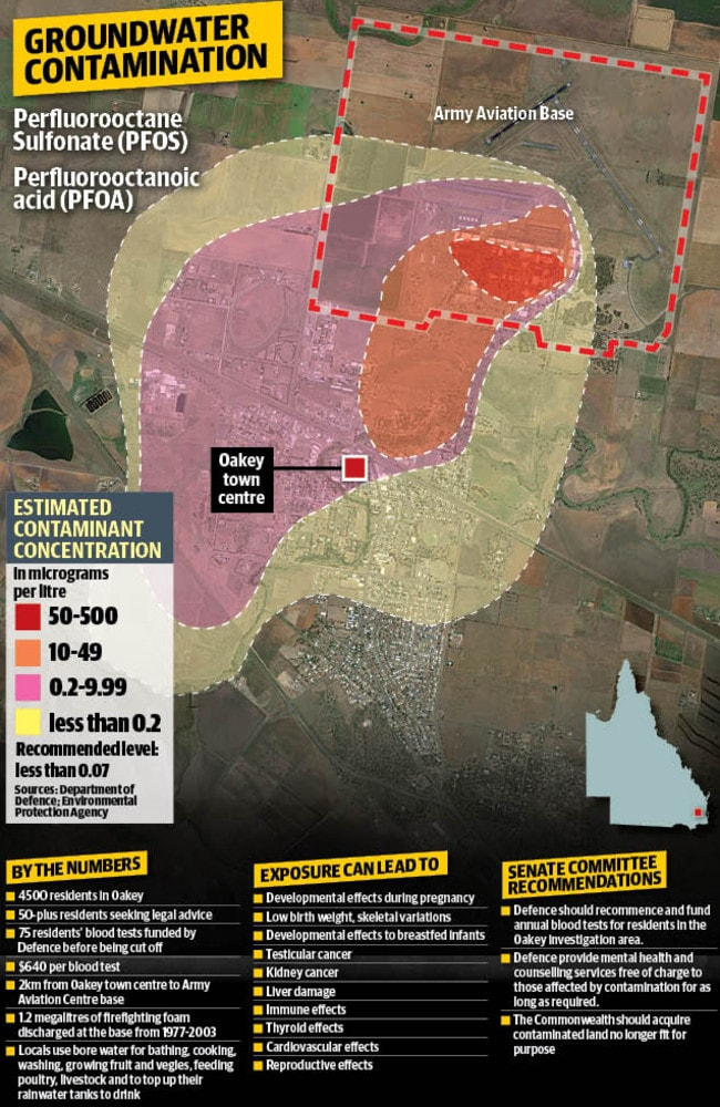 Oakey Groundwater Contaminated By Army Aviation Base Chemicals - Ground water contamination us map