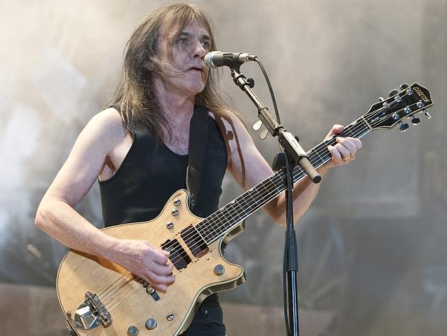 Reported to be seriously ill ... AC/DC's guitarist Malcolm Young. Picture: Charles Brewer