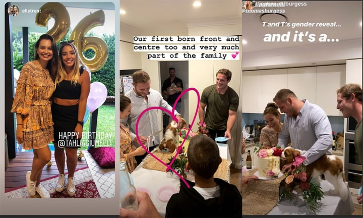 Tom Burgess and Tahlia Giumelli's gender reveal is totally on brand