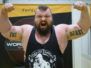 """London, UK. 3rd July, 2016. Englishman Eddie """"The Beast"""" Hall is a professional strongman, notable for having won on multiple occasion both the UK's Strongest Man and England's Strongest Man titles. He has also competed at the World's Strongest Man and is"""