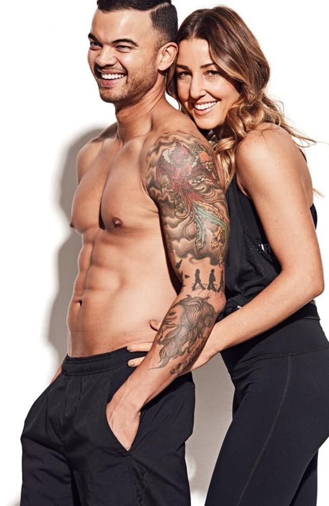 Sebastian and wife Jules in Men's Health. Picture: Jason Ierace / Men's Health