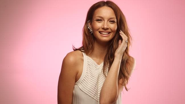 No rush ... Ricki-Lee is planning to marry her fiance Rich Harrison in France next year. Picture: Jeff Camden