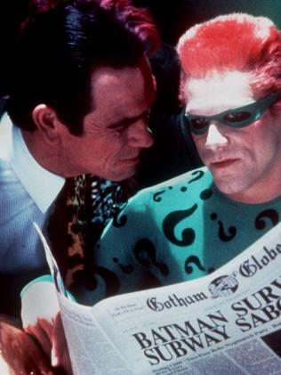 Tommy Lee Jones as Two Face made Jim Carrey's The Riddler look like a master class in understatement.
