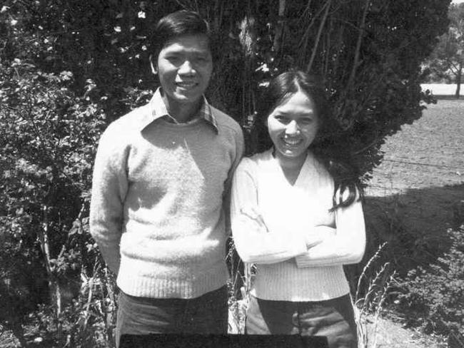 A young Hieu Van Le with his wife his Lan at the Pennington Hostel in 1977.