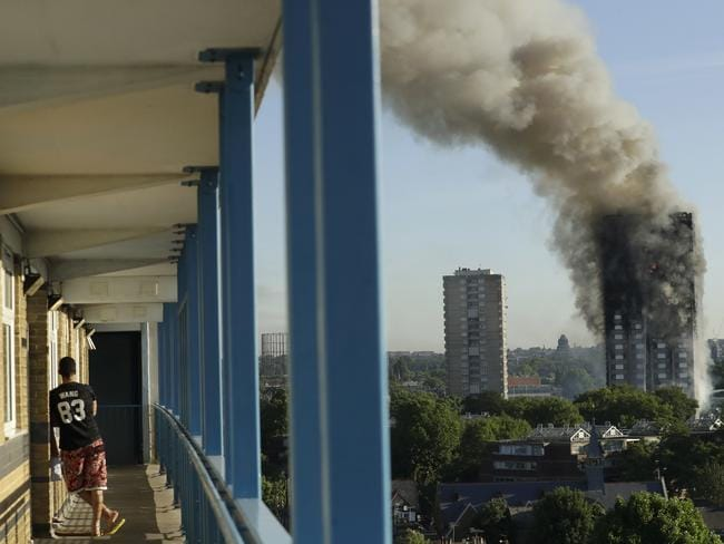Kensington and Chelsea is one of London's richest suburbs, but this wealth is not supporting safe, affordable housing. Picture: Matt Dunham/AP