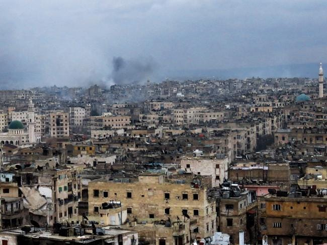 Fighting continued in Aleppo's southeastern al-Zabdiya neighbourhood yesterday. Picture: AFP