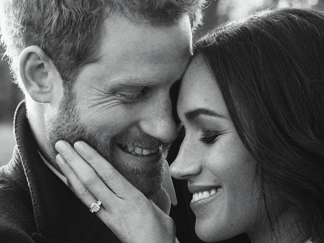 Prince Harry and Meghan Markle will marry on May 19 in England. Picture: Alexi Lubomirski via AP