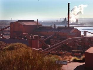 15/06/2008 NEWS: SA Great tour of Whyalla and Port Augusta. Steel works at Whyalla.
