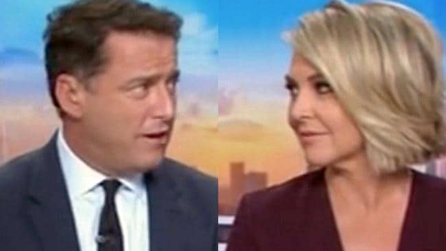 New Today co-host Georgie Gardner allegedly copped a spray from Karl during what was supposed to be a private phone conversation. Picture: Today / Channel 9.