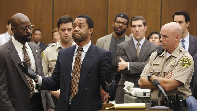 Cuba Gooding, Jr. plays O.J. Simpson in The People v. O.J. Simpson: American Crime Story.
