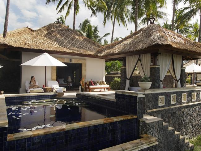 One of the villas at the Spa Village Resort in Bali, a perfect place to detox.