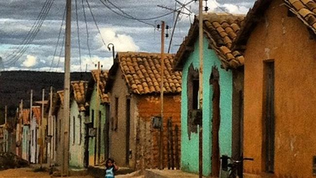 "The ""end of the world"": the town of Candido Sales, where child brothels stand between the squalid houses. Picture: Matt Roper."