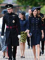 <p>Prince William and Kate walk through Victoria Barracks in Windsor on June 25, 2011. Photo: AFP, Carl Court</p>
