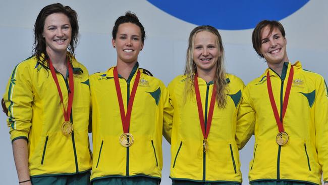 Cate Campbell, Emma McKeon, Bronte Campbell and Melanie Schlanger.