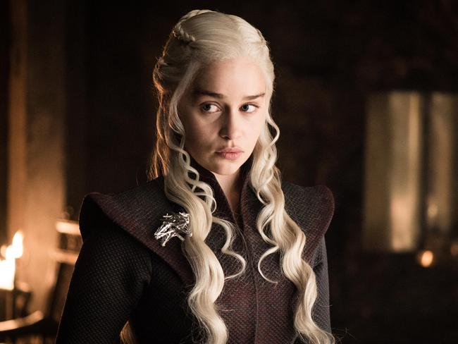 Emilia Clarke in the role of Daenerys Targaryen from the seventh season of Game of Thrones. Picture: HBO