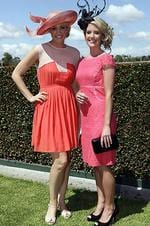 Caulfield Guineas Day - Erin Willing with Justine MacKenzie. Picture: Julie Kiriacoudis