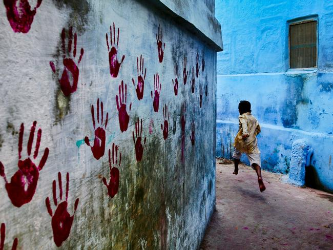 Steve McCurry: India exhibtion - Boy in mid-flight, Jodhpur, Rajasthan Steve McCurry, 2007 Picture: Steve McCurry