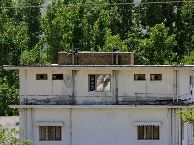 The hide-out house of Al-Qaeda leader Osama bin Laden where he was killed by US Special Forces.