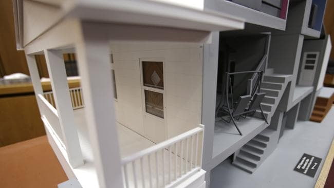 Place of evil: A close-up of a model of the Castro house.